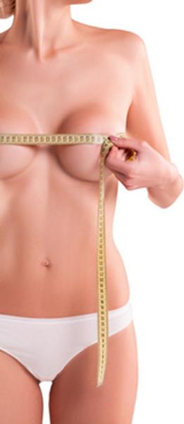 Brust mit Massband